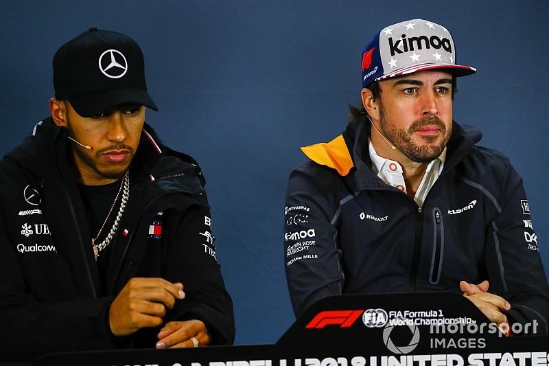 ハミルトン、元チームメイトのアロンソに敬意も「F1ドライバー市場を支配していると誤解しなければ……」