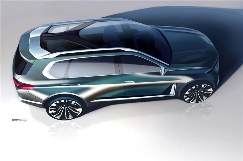 BMW X7のコンセプトカーが世界初公開。最上級セグメントに属するSUVはブランド初