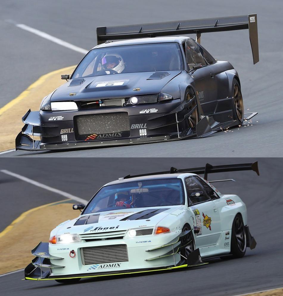 「筑波53秒入りを賭けて戦う2台の魔改造BNR32を比較!」サポートショップは同一ながらマシンメイクは全く異なる!?