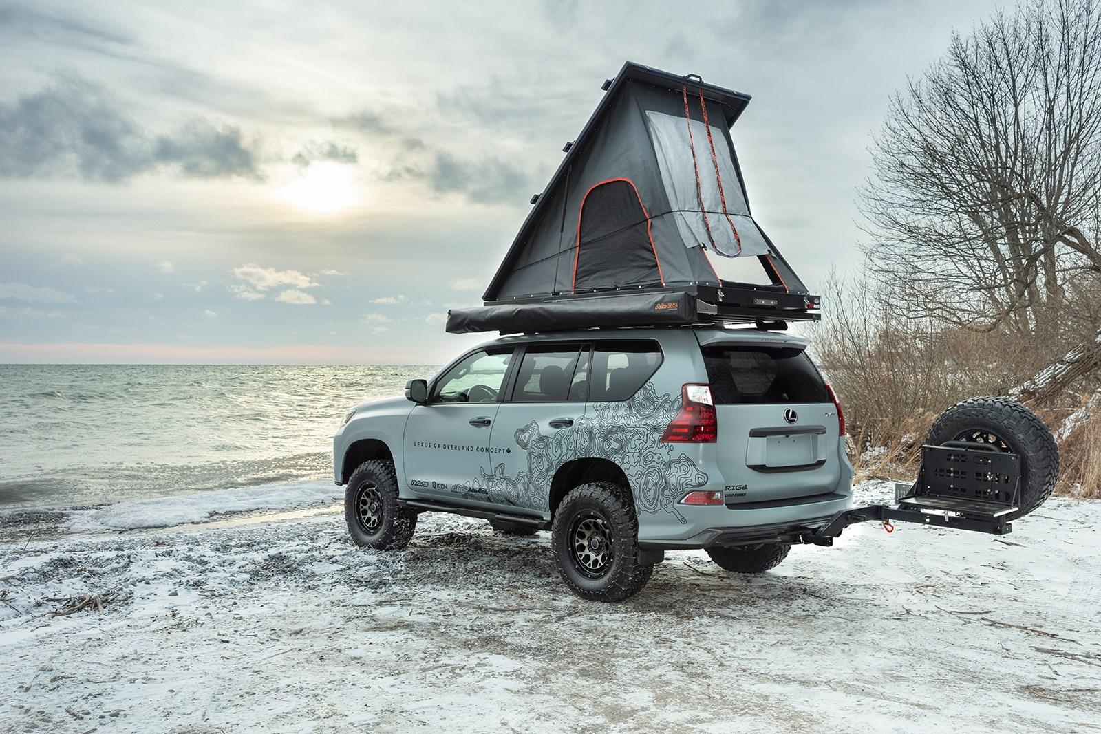 レクサス、GXオーバーランドコンセプトを披露。ルーフ上にテントを完備