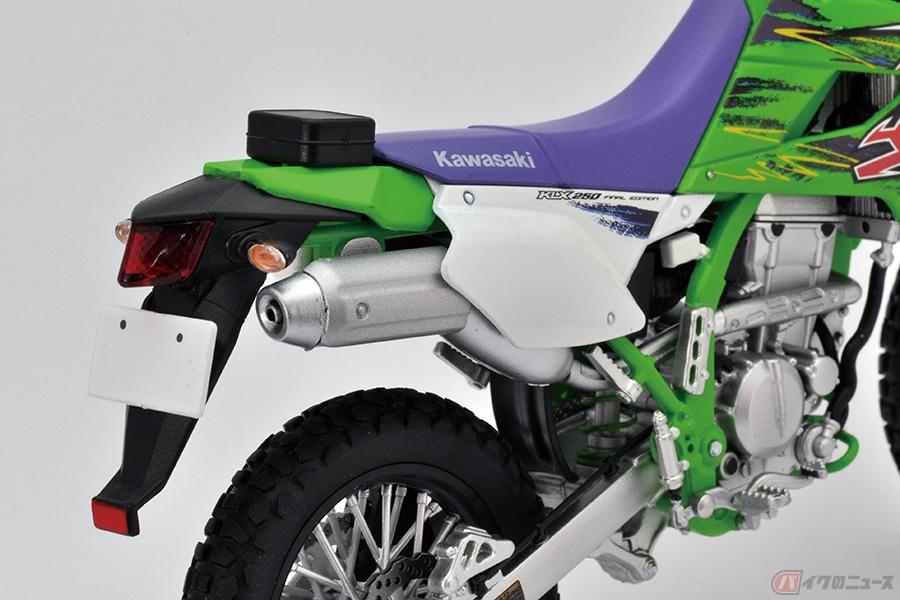 あのときのライムグリーンを再現!? カワサキ「KLX250 Final Edition」の模型