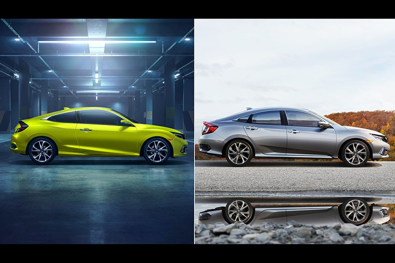 ホンダ、シビックセダン&クーペの改良モデルを北米で発表