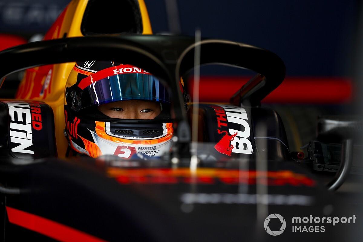 角田裕毅、FIA F2開幕戦のフリー走行でいきなりトップタイムを記録!