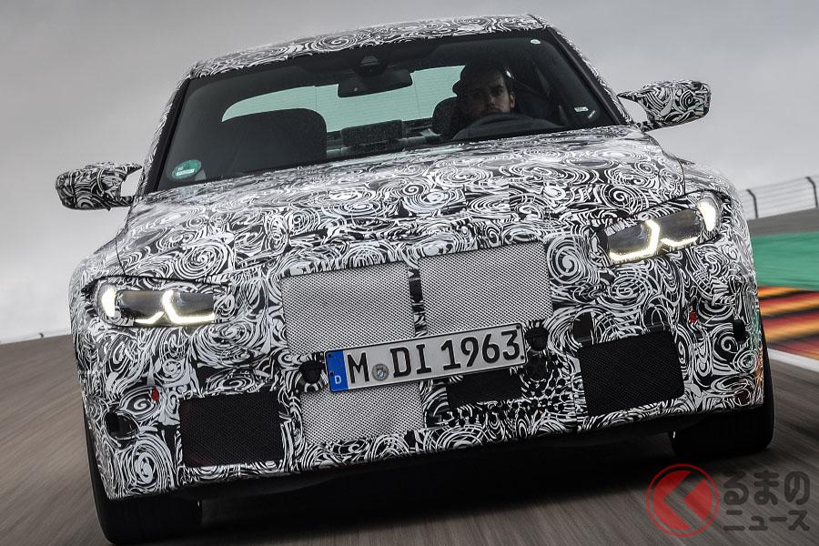 ついにその姿を現した! BMW新型「M3」がニュルで走行テスト