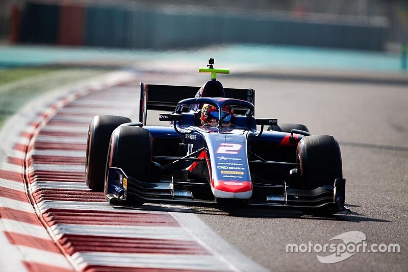 FIA F2アブダビテスト初日:デレトラが最速。F2初走行の角田裕毅は16番手