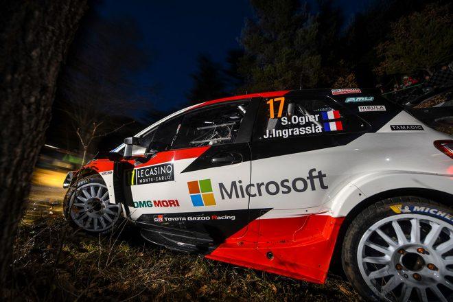 WRC:トヨタ、第1戦モンテカルロ初日は2台がトップ5入り。「今晩はいいスタート」とマキネン代表