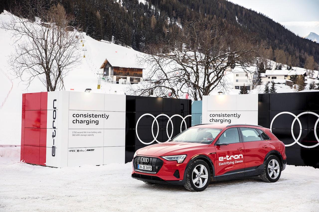 アウディ、ダボスでの世界経済フォーラムに最新EV&充電システムを投入
