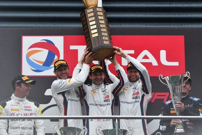 スパ24時間:雨で波乱のレースは20号車が制しポルシェがワン・ツー。ホンダNSX GT3が殊勲の6位に