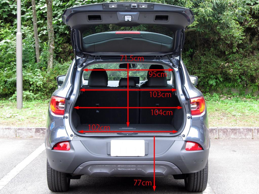ルノー・カジャーを測って測って測りまくる。高さは? トランクは?