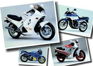 VFR750F、RG250Γ、FZ250フェーザーなどヘッドライトカウルのスポーツバイクが大人気に!【日本バイク100年史 Vol.038】(1986-1987年)<Webアルバム>