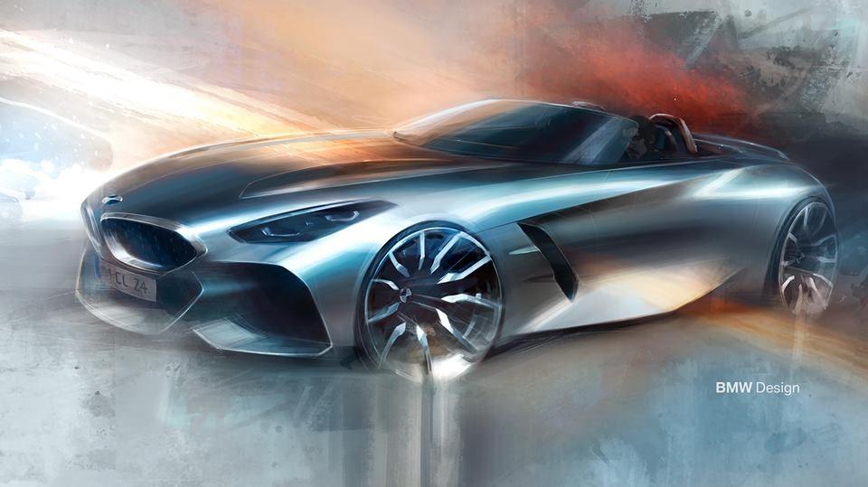 BMW、次期Z4ロードスターの最新イラストを公開