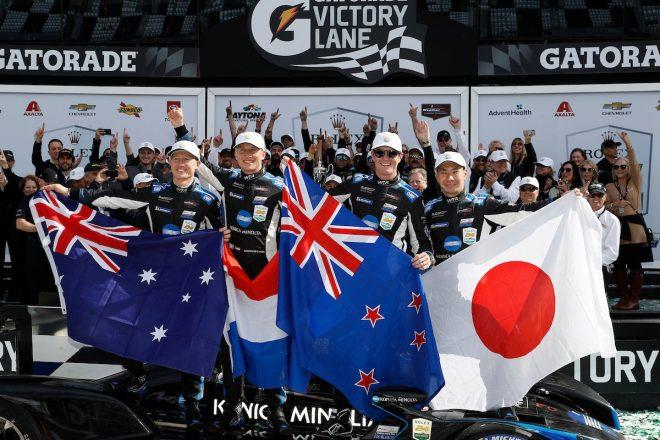 「24時間全力でプッシュ」小林可夢偉、デイトナ2年連続優勝はチームワークのおかげ