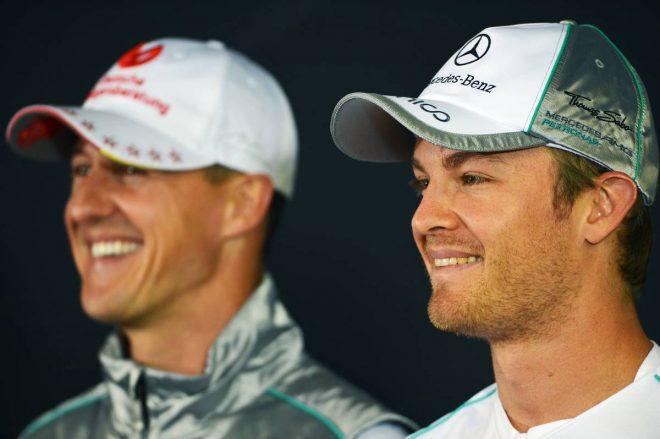 元F1王者ロズベルグがシューマッハーとの心理戦を明かす「パニックで予選に大きく影響した」