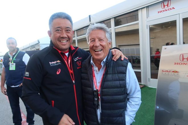 【あなたは何しに?】元F1チャンピオンのマリオ・アンドレッティがホンダを激励