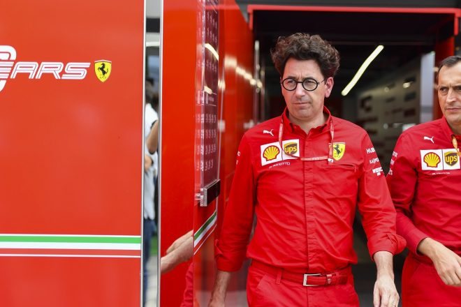 フェラーリF1代表、パワーユニットの違反を否定。フェルスタッペンの不正発言に怒り示す