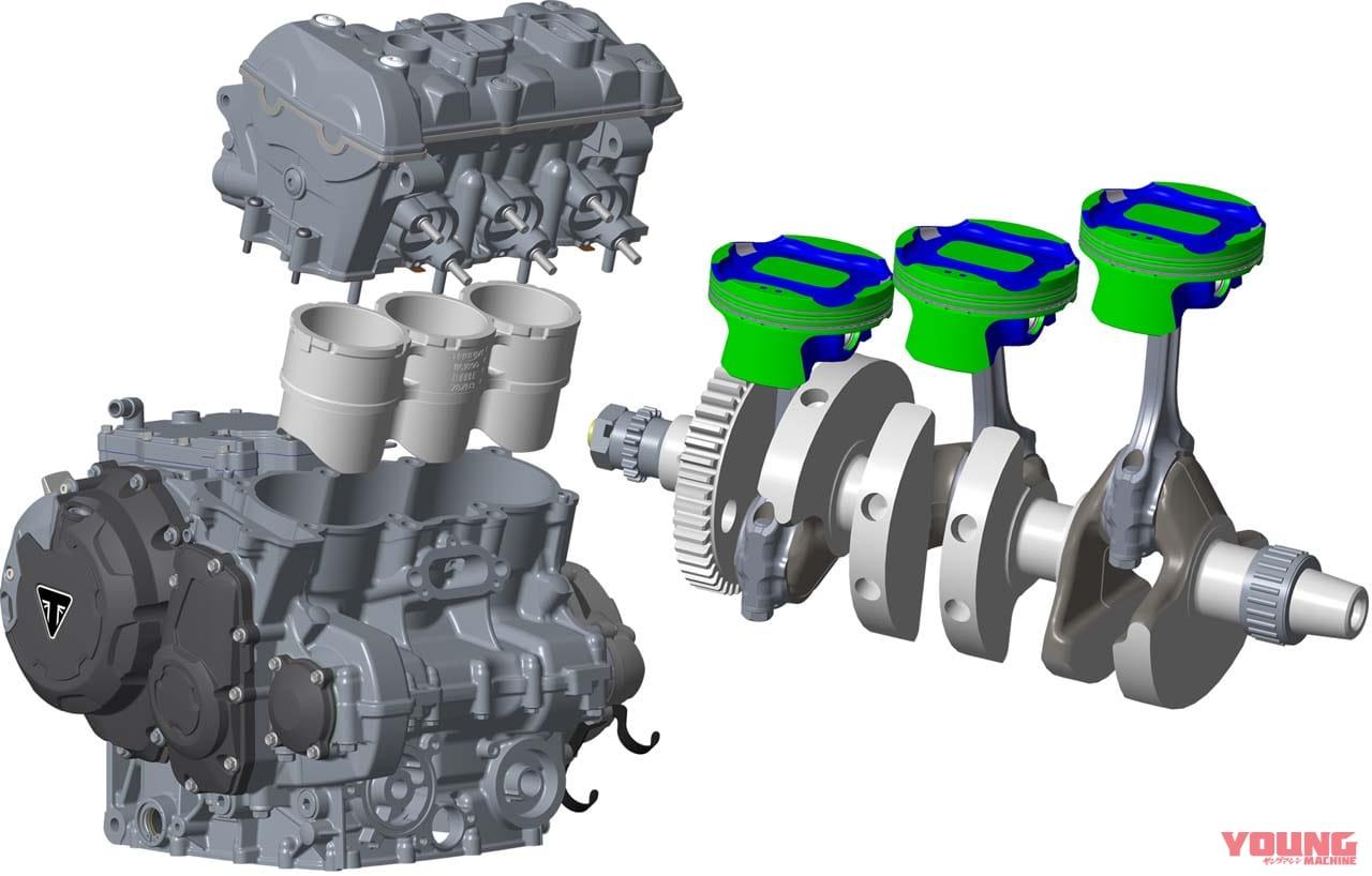 """ニュータイプ""""Tプレーン""""3気筒エンジンの新型タイガー900、トライアンフから4月上旬発売"""