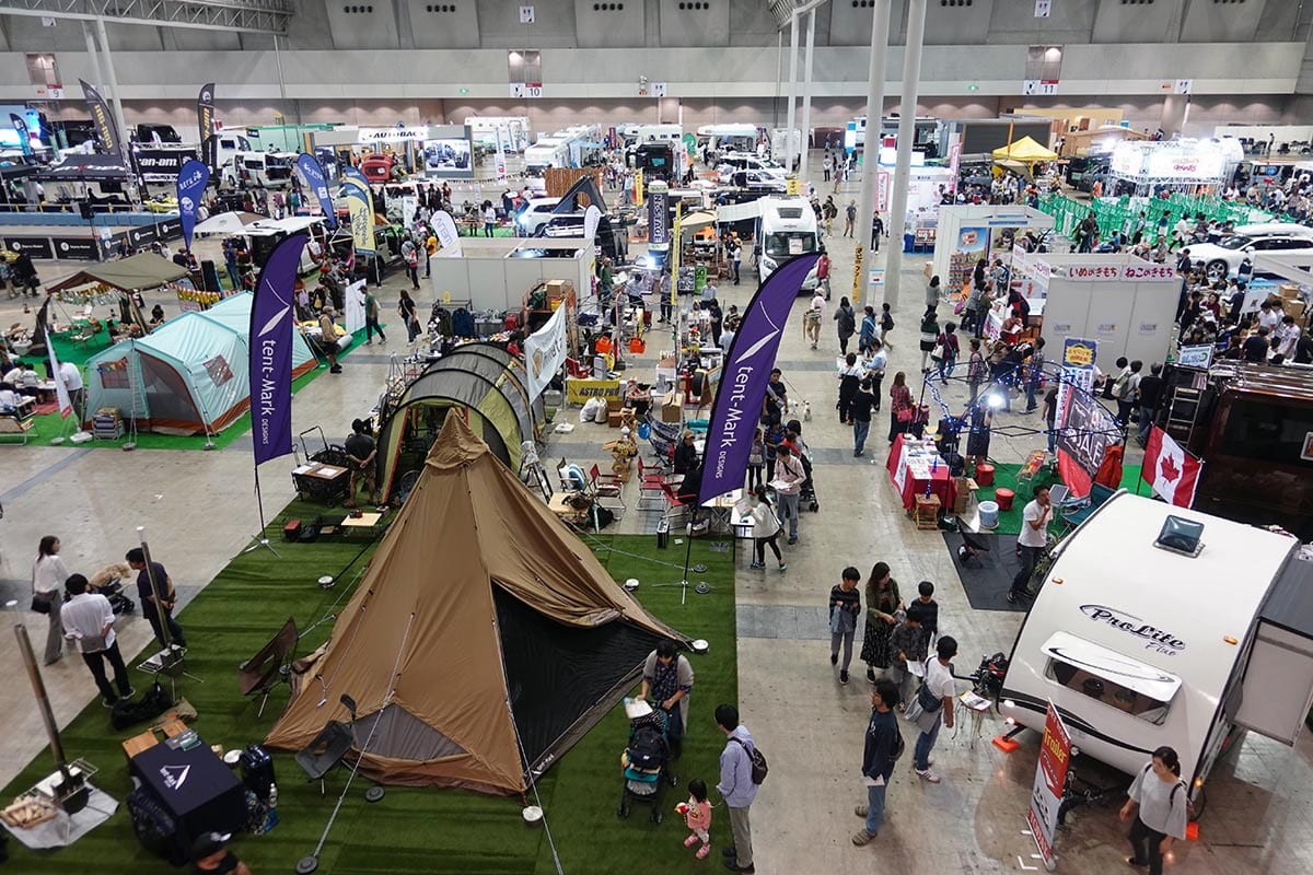車中泊&テント泊が体験できるイベント「カートラジャパン2019」が9/20~22幕張メッセにて開催!