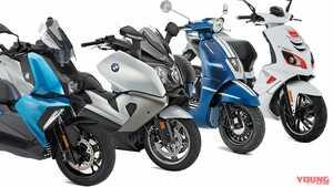 '20新車バイク総覧〈スクーター 外国車#1/3〉BMW&プジョー