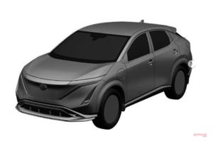 【ボディワークが明らかに】日産アリア量産仕様 EVの新型ハイパフォーマンスSUV 2021年、欧州発売か