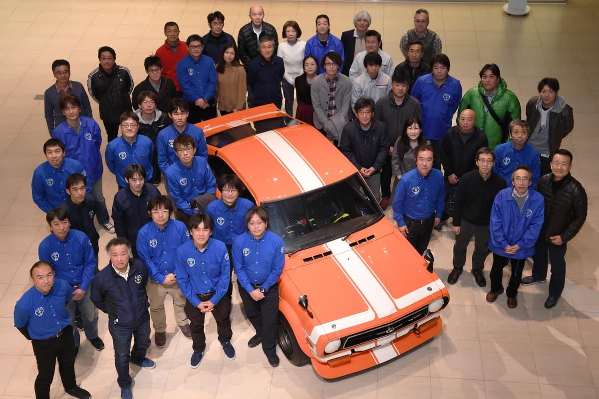 日産社員が「2代目サニー」レース仕様をフルレストア 3月より一般公開を開始