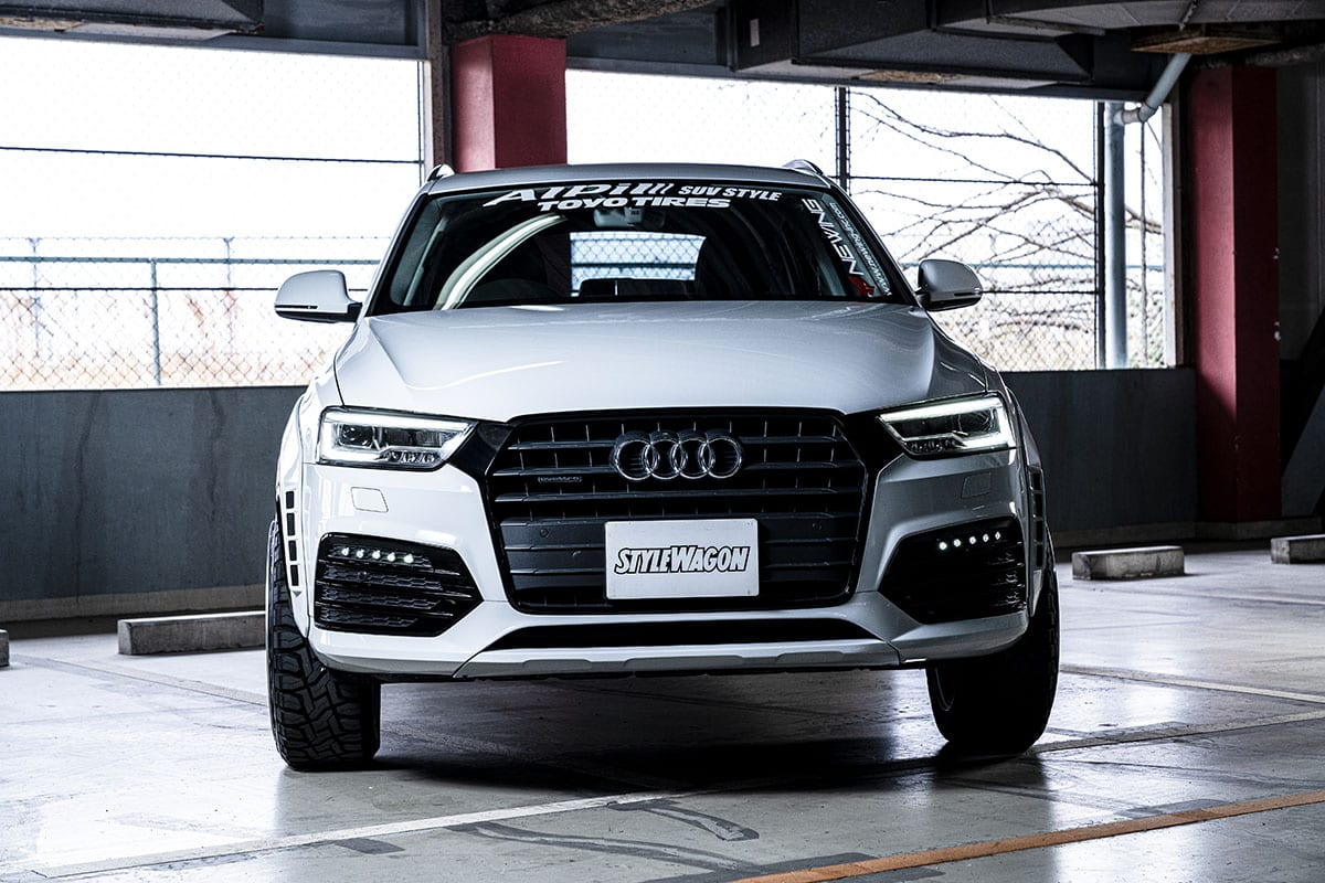 〈アウディQ3&Q8〉輸入車カスタム連載! #04 高級感と厳つさのバランスがいい! 狙い目の欧州SUVをオバフェンとホイールで魅せる!