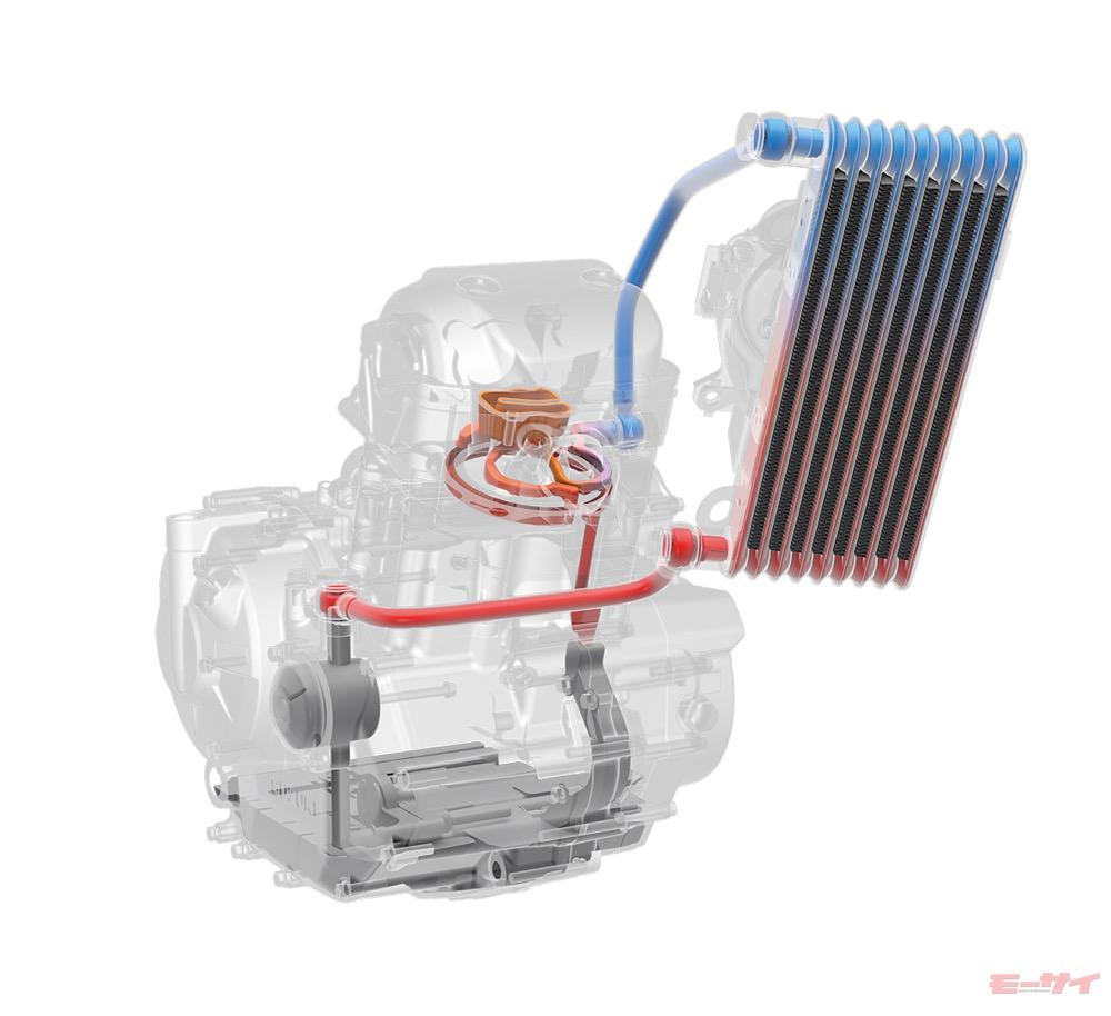 「オイル噴射ではなく循環式に」スズキ ジクサー250 新油冷エンジンの構造に唸る