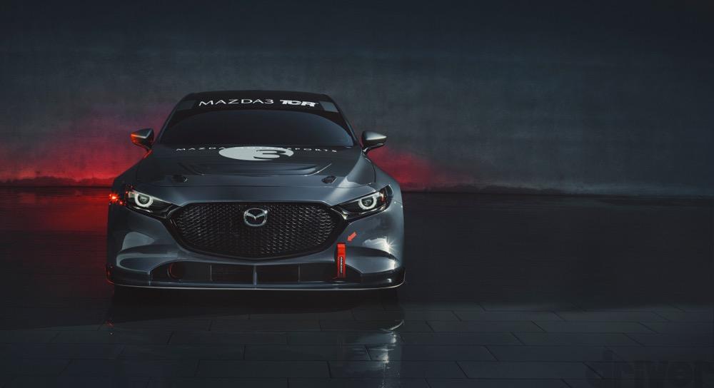 北米マツダ、マツダ3がベースの新型TCRカーを世界初披露。2020年IMSAデイトナ戦に参戦予定