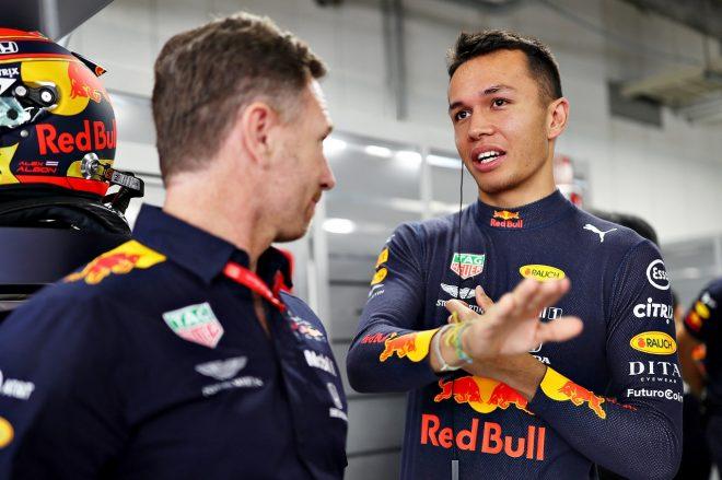 レッドブルF1代表、フェルスタッペンの2020年チームメイトはアルボンでほぼ決まりと発言「今のパフォーマンスに大満足」