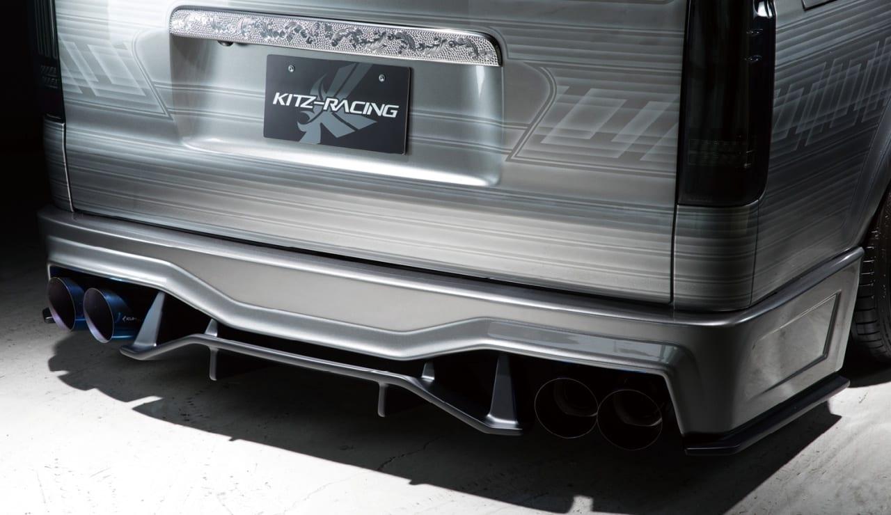トヨタ・200系ハイエース、ナローロング! ドラッグ低減等、空力にも積極的に配慮した、Kuhlの超絶スポーツバンパー!!