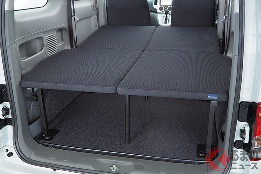 車中泊仕様の日産セレナ「マルチベッド」発売! 2列シートでベッドを備え価格は323万円から