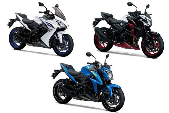 スズキ、ロードスポーツバイク『GSX-S』シリーズ3車種のカラーリングを変更し2月20日より発売
