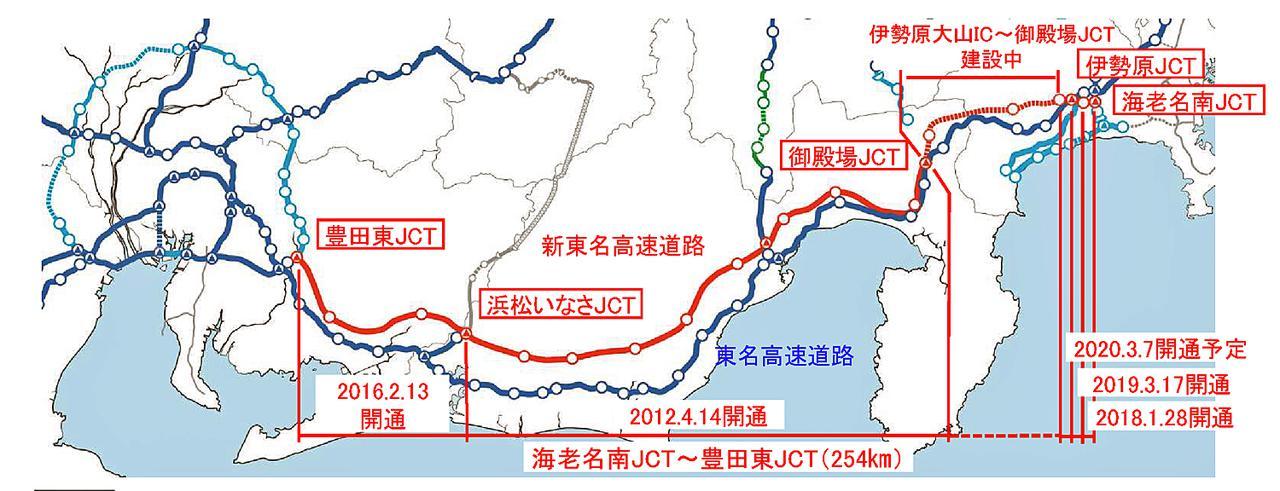 【高速道路情報】新東名高速の伊勢原JCT~伊勢原大山ICが2020年3月7日に開通!