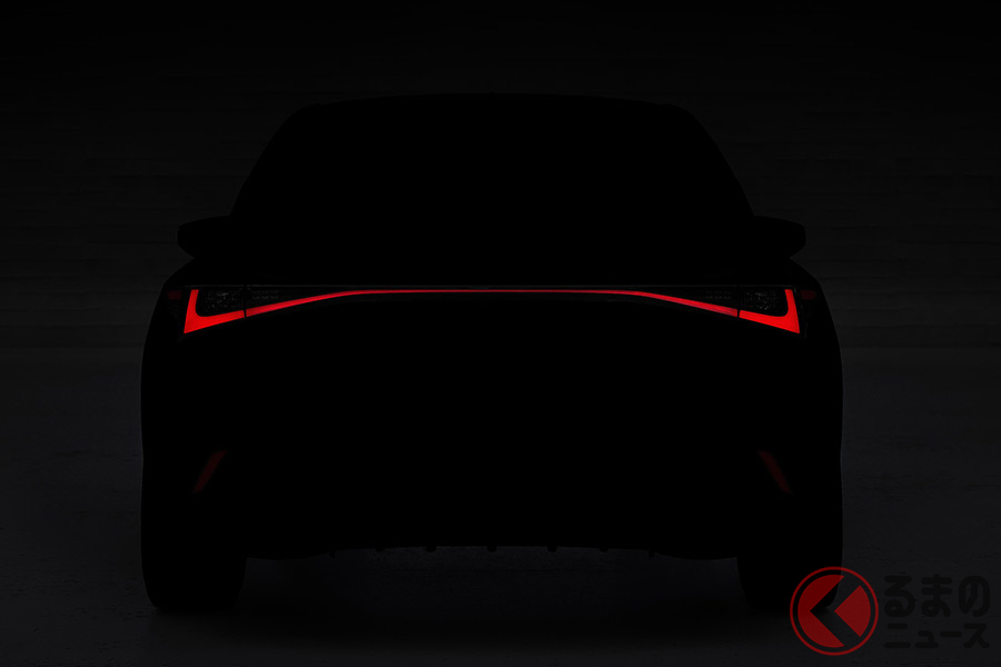 レクサス新型「IS」世界初披露へ 最新FRセダンのデザインを一部公開