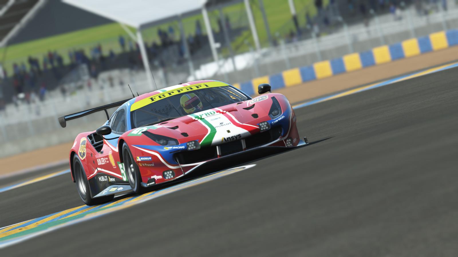 フェラーリが3台の488 GTEでル・マンを戦う! 仮想空間の24時間耐久レースにプロレーサーもこぞって参戦