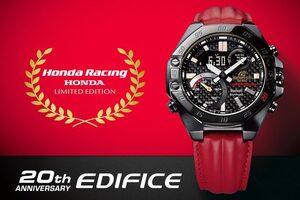 カシオ『EDIFICE』からホンダレーシングとコラボした20周年モデル登場。4月24日発売