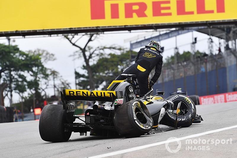 F1ブラジルGPフリー走行2回目:メルセデスが1-2。ベッテル、レッドブル勢が続く。ヒュルケンベルグがクラッシュ