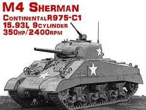 【モンスターマシンに昂ぶる 025】地上に降りた星型エンジンを搭載したM4 シャーマン戦車