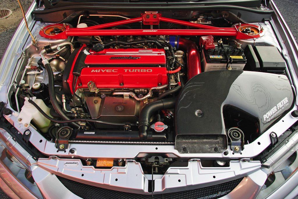 """「モンスタースポーツが放った伝説のランエボ改""""365-SPEC""""を知っているか?」4G63はレース用エンジンに匹敵する精度で組まれる!"""