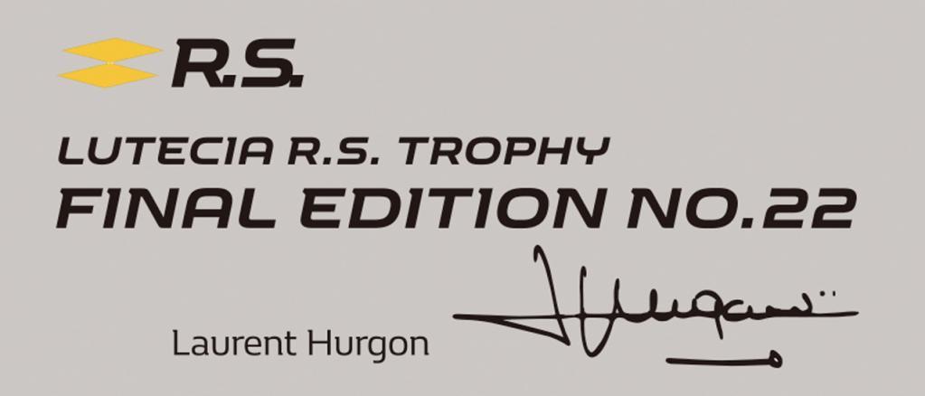 ルノー・ルーテシアR.S.トロフィーに50台の限定車「ファイナルエディション」が登場! 税込340万2000円
