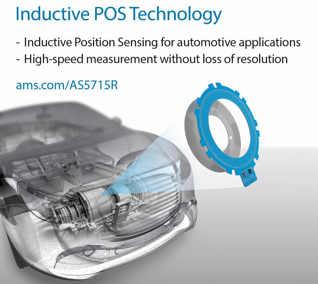 ams:高速モーター向けに初のインダクティブポジションセンサを発表