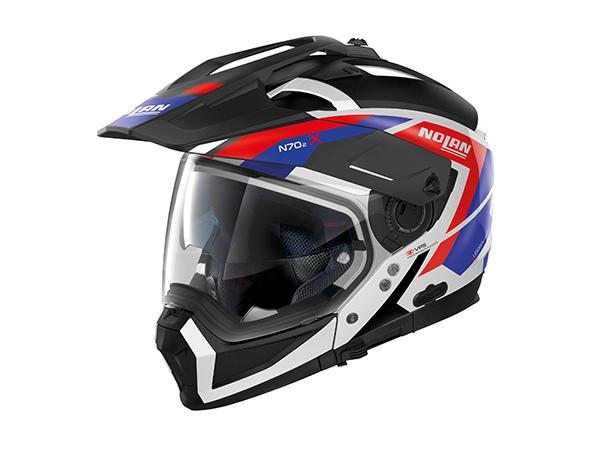 アゴが外れる、変形オフロードヘルメット