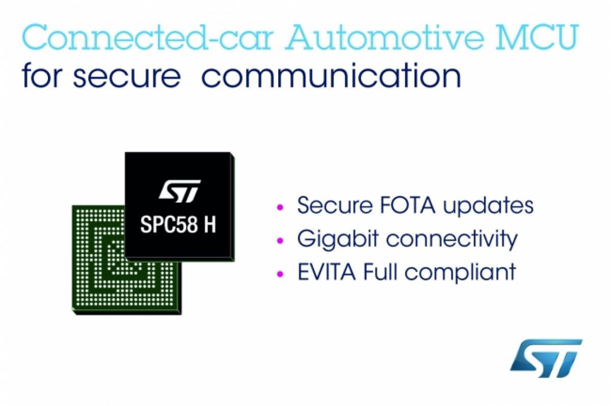 STマイクロエレクトロニクス :コネクテッド・カー向けにセキュアな遠隔更新と高速車載ネットワークを実現する新しい車載用32bitマイコンを発表