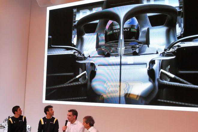 新車なき発表会を行ったルノーF1「実物でないショーカーを披露したくはなかった」開発の遅れは否定