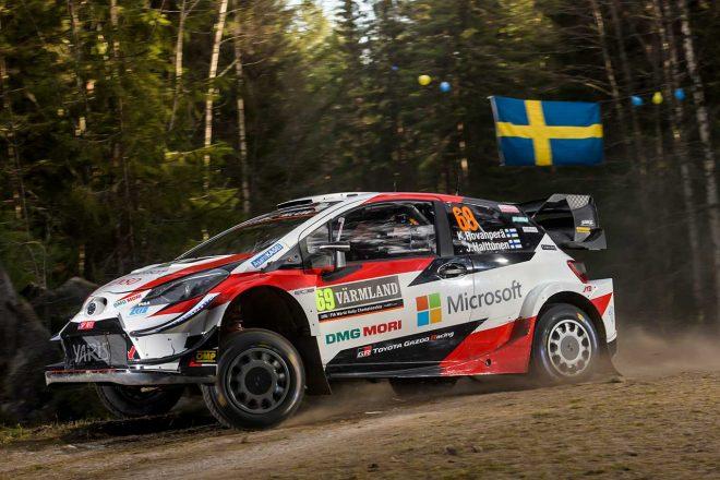 """WRC第2戦スウェーデン:シェイクダウン""""1本目""""はトヨタがトップ3独占。積雪なく地面むき出し"""