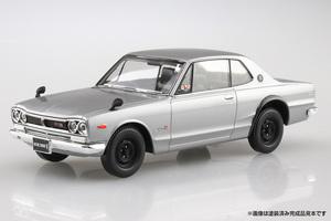 「塗装も接着剤も不要!」超手軽に作れるアオシマのプラモシリーズにハコスカGT-Rが登場!