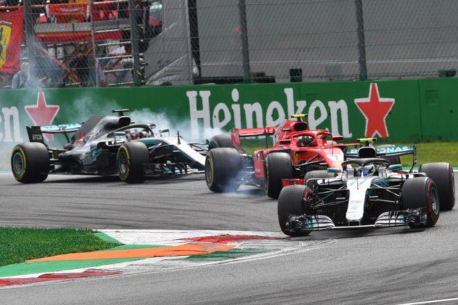F1イタリアGP決勝:孤軍奮闘のライコネンは力及ばず、メルセデスのハミルトンが作戦勝ち