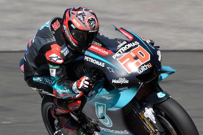 MotoGPイギリスGP:クアルタラロが新舗装路面でレコード更新の初日総合トップ。ヤマハ勢3人がトップ5圏内に