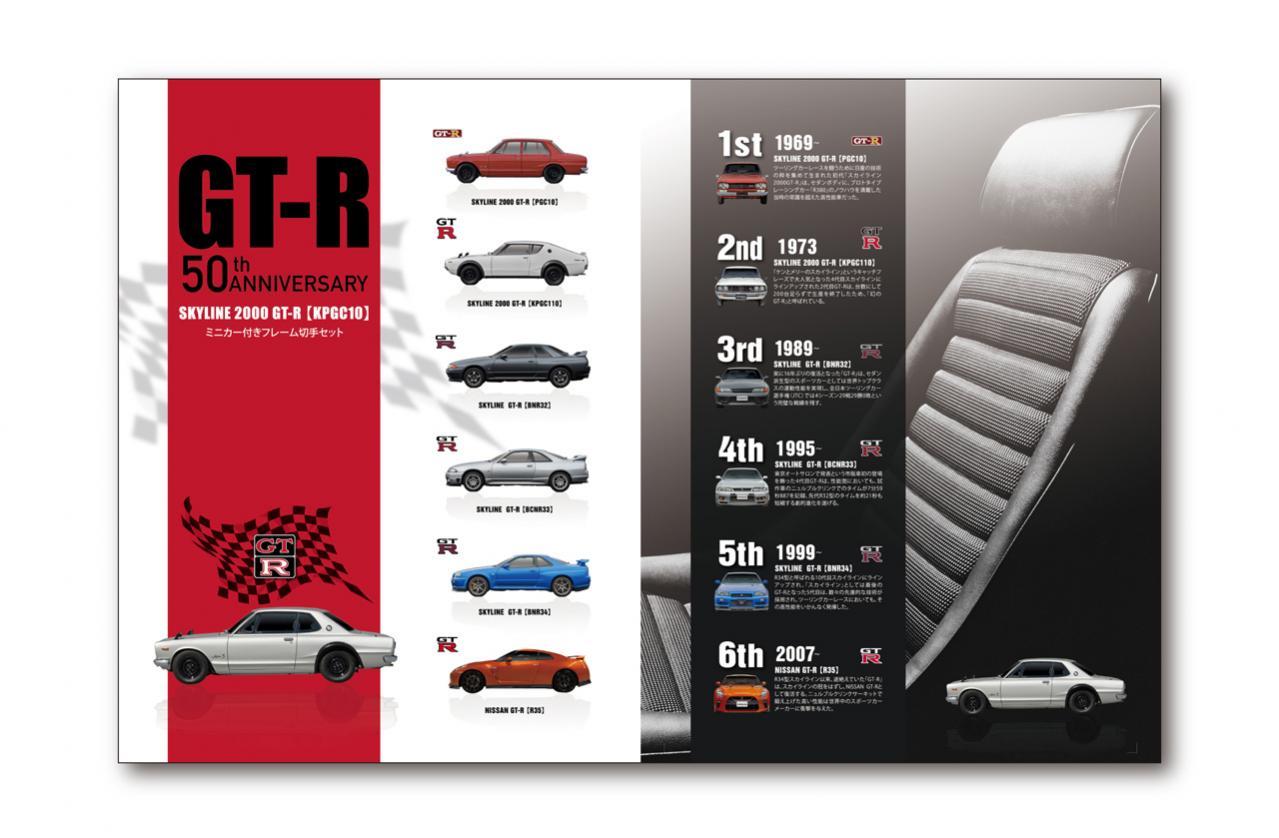 日産GT-Rの誕生50周年を記念したミニカー付き切手セットが2月10日に発売! 5000セット限定で税込4600円