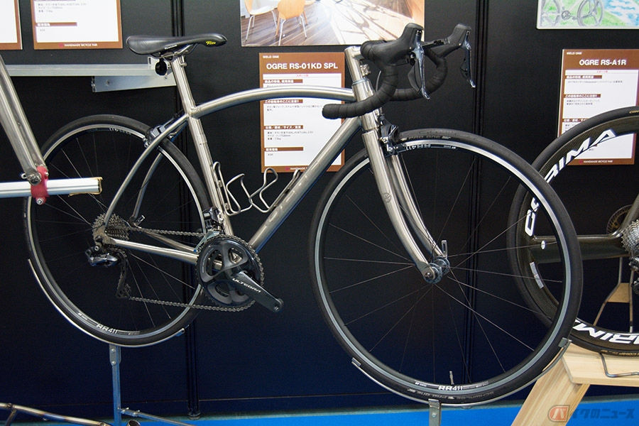 高級金属チタンでフレームを作る 優れた職人的技術で実現した自転車のフレーム