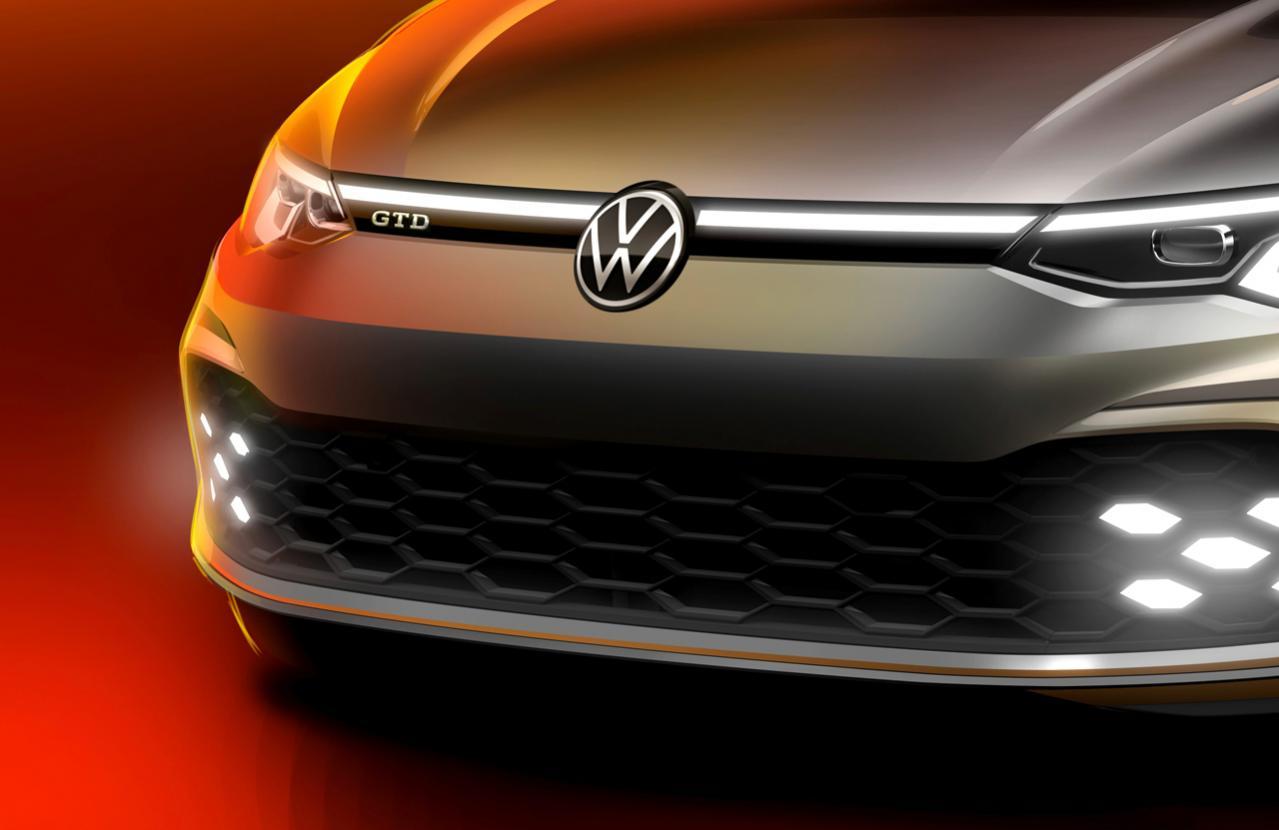 フォルクスワーゲンの新型ゴルフにディーゼルの高性能版「GTD」登場! 3月のジュネーブ・モーターショーでの正式発表に先駆けてティザー画像を公開【VW GOLF GTD】